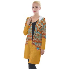 Sunshine Mandala Hooded Pocket Cardigan