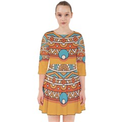 Sunshine Mandala Smock Dress