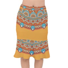 Sunshine Mandala Short Mermaid Skirt
