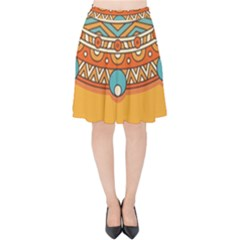 Sunshine Mandala Velvet High Waist Skirt