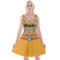 Sunshine Mandala Reversible Velvet Sleeveless Dress