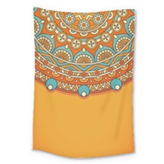 Sunshine Mandala Large Tapestry