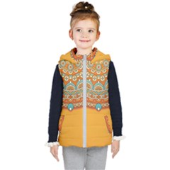 Sunshine Mandala Kids  Hooded Puffer Vest