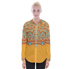 Sunshine Mandala Womens Long Sleeve Shirt