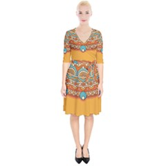 Sunshine Mandala Wrap Up Cocktail Dress