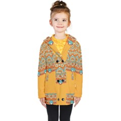 Sunshine Mandala Kids  Double Breasted Button Coat