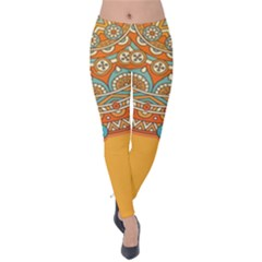 Sunshine Mandala Velvet Leggings