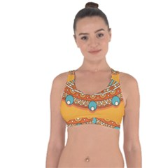 Sunshine Mandala Cross String Back Sports Bra