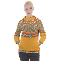 Sunshine Mandala Women s Hooded Pullover