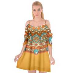 Sunshine Mandala Cutout Spaghetti Strap Chiffon Dress