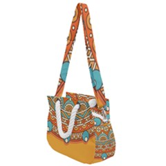 Sunshine Mandala Rope Handles Shoulder Strap Bag