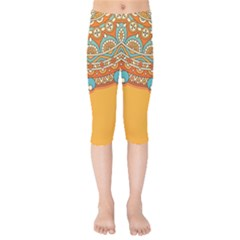 Sunshine Mandala Kids  Capri Leggings