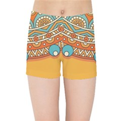 Sunshine Mandala Kids  Sports Shorts
