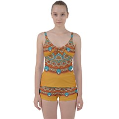 Sunshine Mandala Tie Front Two Piece Tankini