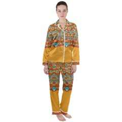 Sunshine Mandala Satin Long Sleeve Pyjamas Set