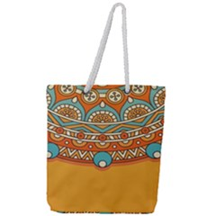 Sunshine Mandala Full Print Rope Handle Tote (large)