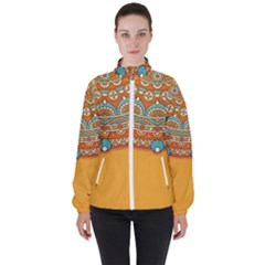 Sunshine Mandala Women s High Neck Windbreaker