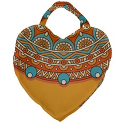 Sunshine Mandala Giant Heart Shaped Tote