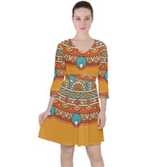 Sunshine Mandala Ruffle Dress