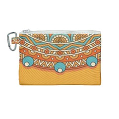 Sunshine Mandala Canvas Cosmetic Bag (medium)