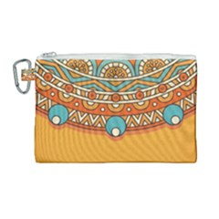 Sunshine Mandala Canvas Cosmetic Bag (large)