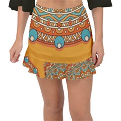 Sunshine Mandala Fishtail Mini Chiffon Skirt