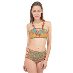 Sunshine Mandala Cage Up Bikini Set