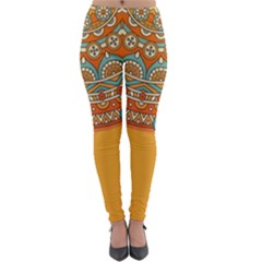 Sunshine Mandala Lightweight Velour Leggings