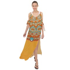 Sunshine Mandala Maxi Chiffon Cover Up Dress