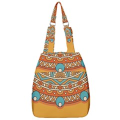 Sunshine Mandala Center Zip Backpack
