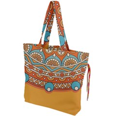 Sunshine Mandala Drawstring Tote Bag