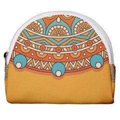 Sunshine Mandala Horseshoe Style Canvas Pouch