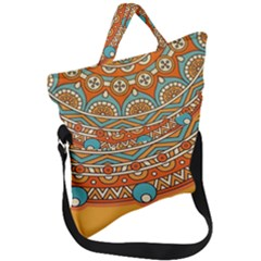 Sunshine Mandala Fold Over Handle Tote Bag