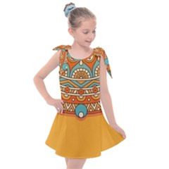 Sunshine Mandala Kids  Tie Up Tunic Dress