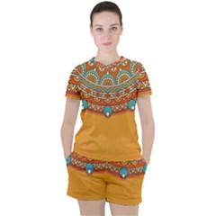 Sunshine Mandala Women s Tee And Shorts Set