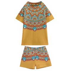 Sunshine Mandala Kids  Swim Tee And Shorts Set