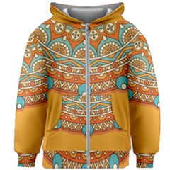 Sunshine Mandala Kids  Zipper Hoodie Without Drawstring