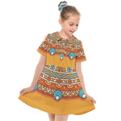 Sunshine Mandala Kids  Short Sleeve Shirt Dress
