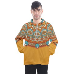 Sunshine Mandala Men s Half Zip Pullover