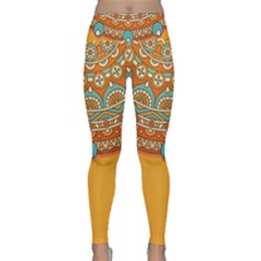 Sunshine Mandala Lightweight Velour Classic Yoga Leggings