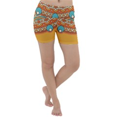 Sunshine Mandala Lightweight Velour Yoga Shorts