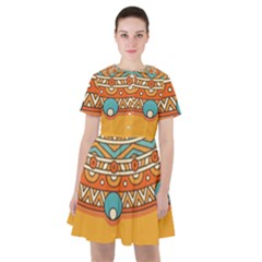 Sunshine Mandala Sailor Dress