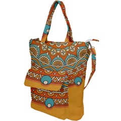 Sunshine Mandala Shoulder Tote Bag
