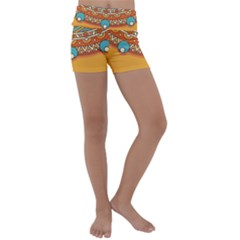 Sunshine Mandala Kids  Lightweight Velour Yoga Shorts