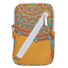 Sunshine Mandala Belt Pouch Bag (small)