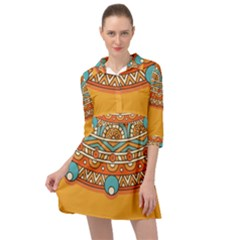 Sunshine Mandala Mini Skater Shirt Dress