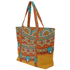 Sunshine Mandala Zip Up Canvas Bag