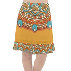 Sunshine Mandala Fishtail Chiffon Skirt