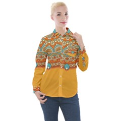Sunshine Mandala Women s Long Sleeve Pocket Shirt