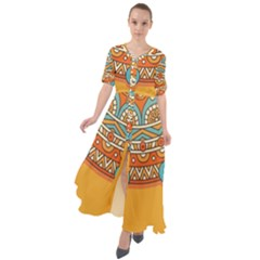 Sunshine Mandala Waist Tie Boho Maxi Dress